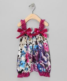 Take a look at this Magenta Floral Bubble Romper - Infant & Toddler by Head over Heels on #zulily today!