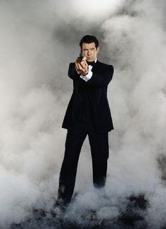 Pierce Brosnan in James Bond film 'Tomorrow Never Dies' 1997