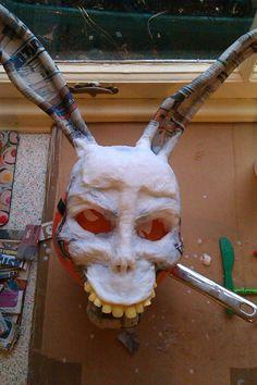 Home-made Donnie Darko 'Frank' mask. Work in progress.