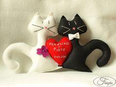 Zakochane filcowe koty / Felt cats
