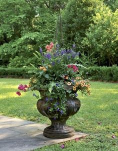 Beautiful garden urn and plant selection! I love container gardens