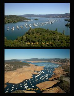 On Jan. 16, 2014, Lake Oroville was at 36% of its total capacity, representing 57% of its historical average for that date.   6 Crazy Photos That Show Why California Is Desperate For Rain https://twitter.com/ogugeo/status/440780391641669632