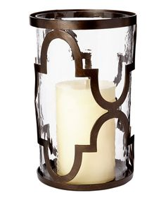 #Quatrefoil Hurricane Large Candleholder