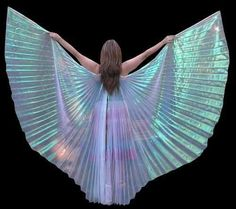 Iridescent element would be awesome. Maybe along some seams or the cape?