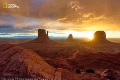 This snap, Daybreak at Monument Valley, taken  in Utah,  was captured…