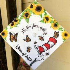 Dr Seuss Grad Cap design // follow us @motivation2study for daily inspiration
