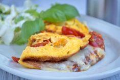 Tomaten-Omelett mit Mozarella - Rezept