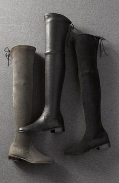 Stuart Weitzman 'Lowland' Over the Knee Boot / Blk Suede Nordstrom-- I'll take all three