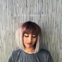 Bangs Short Hair = @imallaboutahair #haircrush #bob #salonjakartas #ombre…