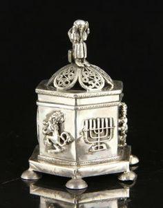 Russian Silver Judaica Spice Box