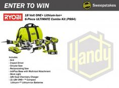 Ryobi 18 Volt Ultimate Combo Kit Sweepstakes ends 3/3/13