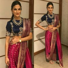 7 Best Pant-Saree Looks To Steal From Our Favourite Celebrities! Fashion In, Indian Fashion, Fashion Dresses, Saree Wearing Styles, Saree Styles, Stylish Sarees, Stylish Dresses, Trendy Sarees, Dress Indian Style