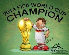 2014 worldcup champions by Martin Hernandez, via Behance