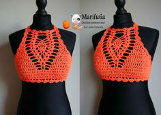 How to crochet easy halter top all sizes pattern by marifu6a