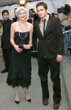 Kirsten Dunst and Jake Gyllenhaal - At the 2003 Golden Globes Awards.  (April 2003)