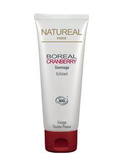 Doux et onctueux, le gommage exfoliant BOREAL CRANBERRY enrichi en particules exfoliantes de cranberry, jojoba et riz permet d'éliminer les impuretés et les cellules mortes.    Il contribue ainsi à booster le renouvellement cellulaire, la peau du visage est tonifiée, pure et clarifiée.    Ce cocktail d'actifs naturels riches en anti-oxydants permet une action exfoliante tout  en douceur laissant la peau douce et apaisée.    Le gommage exfoliant BOREAL CRANBERRY offre un résultat beauté…