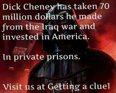 This war criminal DICK should be in Prison... Not owning them with Blood money from his Lies