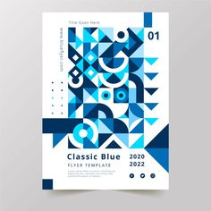 Color of the year 2020 poster template F. Geometric Graphic Design, Geometric Poster, Graphic Design Inspiration, Abstract Template, Visual Communication, Color Of The Year, Brochures, Pattern Art, Flyer Template