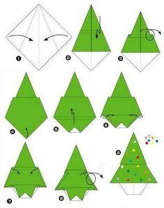 sapin en origami facile