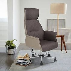 Ebern Designs Office Chair High-Back Reclining Office Chair with Headrest Ebern Designs Ottoman Table, Bed Table, Upholstered Dining Chairs, Buy Chair, Chair Bed, Swivel Chair, Furniture Upholstery, Furniture For Small Spaces, Living Room Furniture