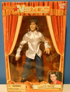 "NSYNC COLLECTIBLE MARIONETTE FIGURE ""LANCE BASS"" LIVING TOYS 2000 VINTAGE NIB"