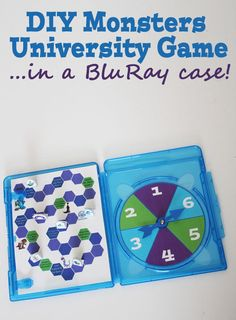 Make a Monsters U game inside a BluRay Case -I have to try this, something to do with my old cases