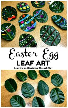 Leaf Easter Egg Craft Forest School IdeasPrecisely what Would be the Most effective Gift items pertaining to C Forest School Activities, Easter Activities For Kids, Spring Activities, Craft Activities, Nature Activities, Preschool Ideas, Craft Ideas, Easter Art, Easter Crafts For Kids