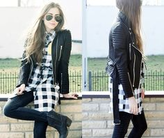Black and white (by Kasia Gorol) http://lookbook.nu/look/3279119-black-and-white