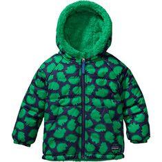 Patagonia Baby Reversible Tribbles Jacket - Pokey Dot/Brilliant Green - Free Shipping & Return Shipping - Shoebuy.com