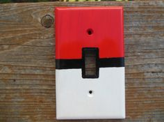 Pokémon Pokéball Light Switch Cover on Etsy, $8.00