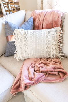 Pillows and throws make all the difference!