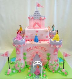 Confections, Cakes & Creations!: Princess Castle Cake  Lilly loves this!