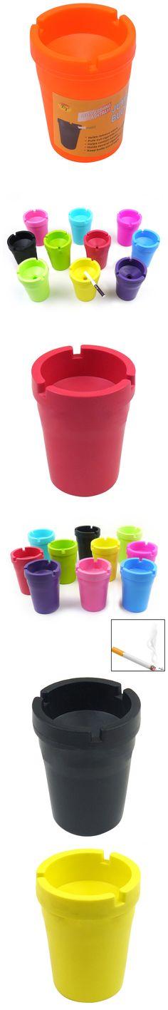 1PC Portable Mini Ashtray Cigarette Cup Car Butt Bucket Smoke Ash Holder Candy Color Tobacciana Ashtrays For Car Drop shipping