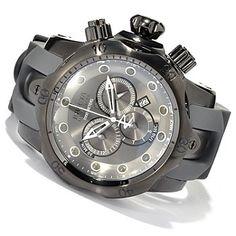 Invicta Reserve Mens Venom Monotone Swiss Made Quartz Chronograph Stainless Steel Strap Watch