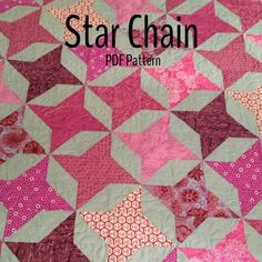 PDF quilt pattern  Star Chain  multiple size by ModernMaterialGirl