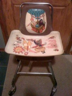 Vintage McDonalds High Chair. Its from the 70's but i've sat in this.