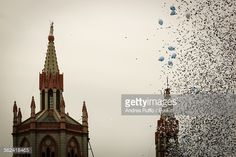"""Balloons And Confetti In Sky Against Church Spires (from <a href=""""http://andresruffo.photography/picture.php?/1846/recent_pics"""">Photos by © Andres A Ruffo </a>)"""