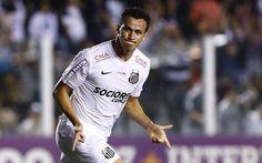 Leandro Damião, então atacante do Santos, em 2014 (Foto: Ricardo Saibun / Santos FC)