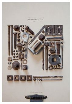 Love the idea of making type out of found objects <3<3<3 Great for a more masculine or gender neutral take. Very cool. And if it all came from a project you did together? Even better!