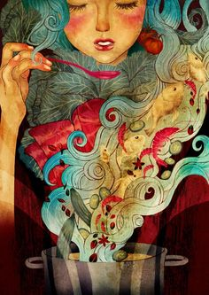 Find images and videos about art and illustration on We Heart It - the app to get lost in what you love. Art And Illustration, Illustrations, Art Beauté, Art Magique, Love Art, Oeuvre D'art, Amazing Art, Awesome, Fantasy Art