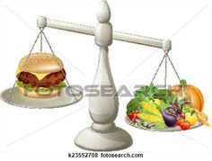 Healthy eating balanced diet View Large Clip Art Graphic