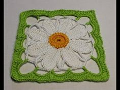 Daisy Granny Square - YouTube