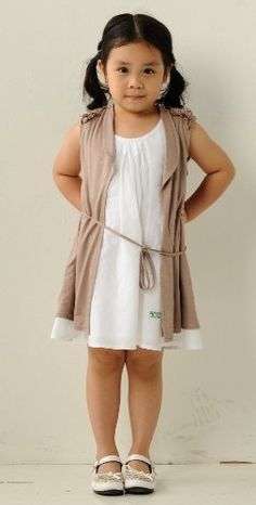 Roll neck sweater  Girls' KC&PP Sleeveless Jersey Cardigan w/ Bias Ruched Detail – 2 Colors Available, 6, Black Big SALE