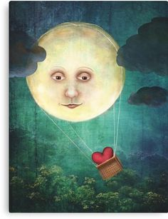 Catherine Swenson Art and Illustration Sun Moon Stars, Sun And Stars, Art And Illustration, Fable, Moon Pictures, Moon Pics, Paper Moon, Good Night Moon, Moon Magic