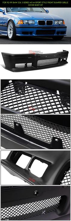 FOR 92-99 BMW E36 3-SERIES M3 M-SPORT STYLE FRONT BUMPER GRILLE COVER BODY KIT #gadgets #fpv #shopping #technology #parts #drone #kit #m #camera #tech #grills #plans #products #racing