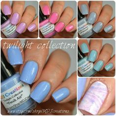 Twilight 5 piece collection of pastel creams Indie Polish by MDJ Creations  ~I want them all!!!