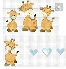 Resultado de imagen para animalitos bordados en punto de cruz