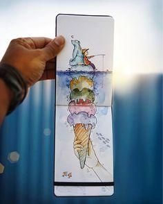 Metaphorical Language Illustration by Indian Artist Vimal Chandran.  FunPalStudio Illustrations, Entertainment, beautiful, Art, Artist, Artwork, nature, World, drawings, paintings,  Creativity, beautiful,  Vimal Chandran, India, photographer, Visual artist.