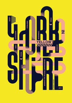 graphic design, poster, typography, yellow