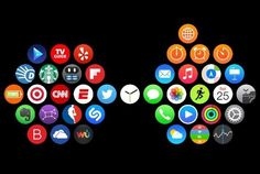 Loving these Clever and Creative App Layouts on the Apple Watch: http://www.cultofmac.com/320989/apple-watch-users-show-off-their-creativity-with-app-homescreens/